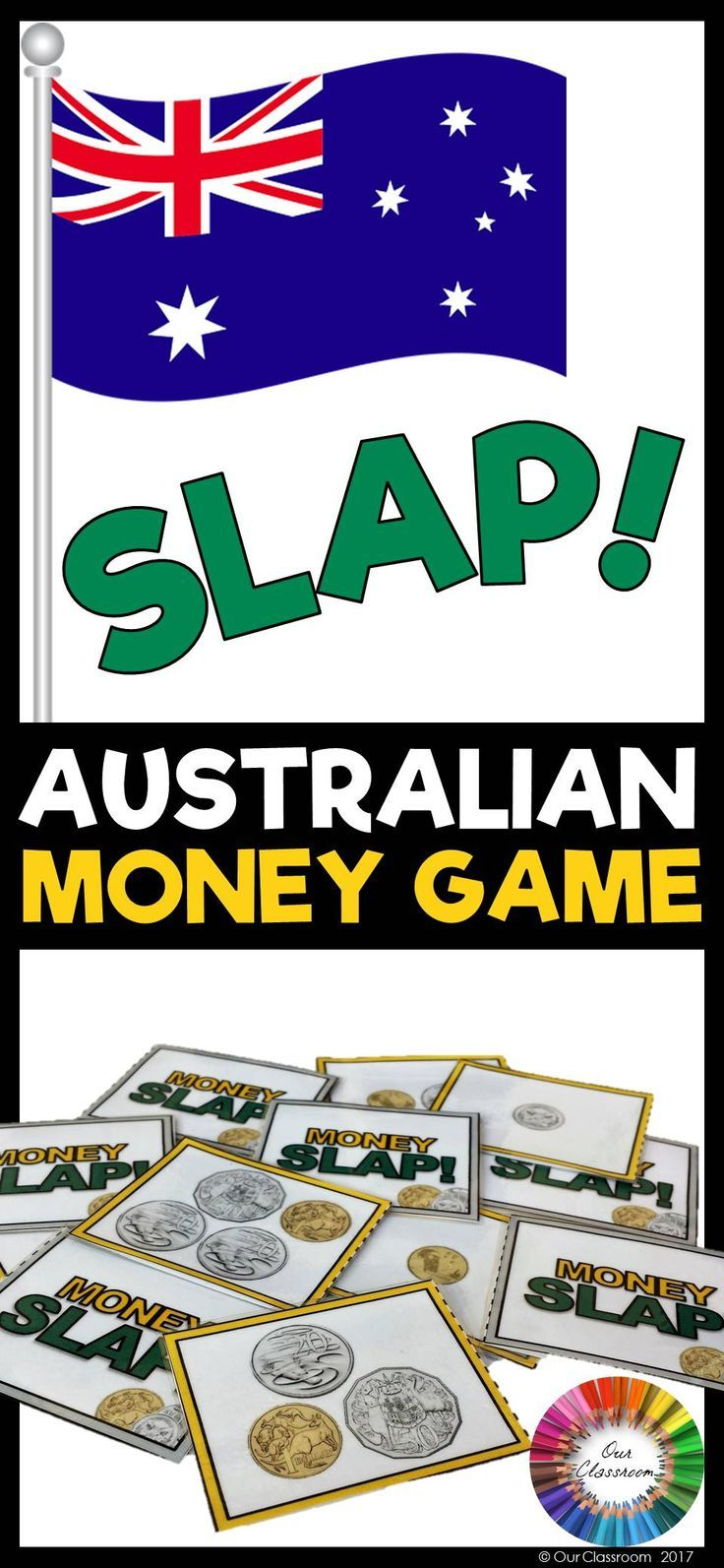 Practise counting money and recognising Australian Coins with this super fun Coin Slap game! The different combination of coins and values will help children to understand and count different money values. Play this fun game now!