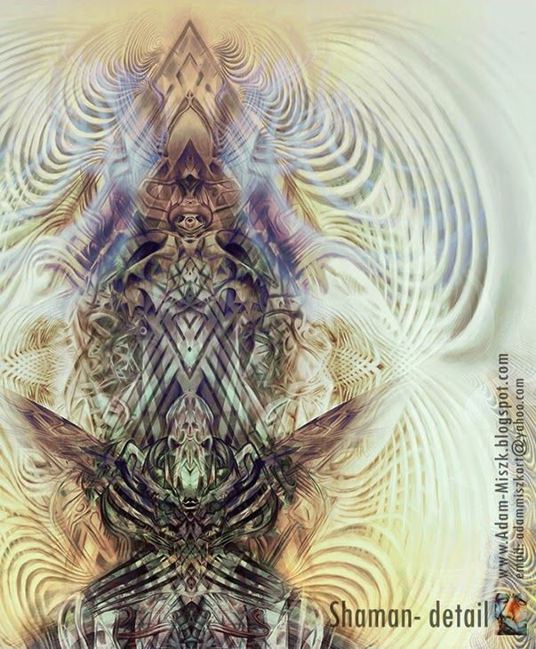 'Shaman'-detail by Adam Miszk #visionaryart #art #digital #contemporaryart #dmt #illustration #fineart #digitalart #painting #horrorart #psychedelic