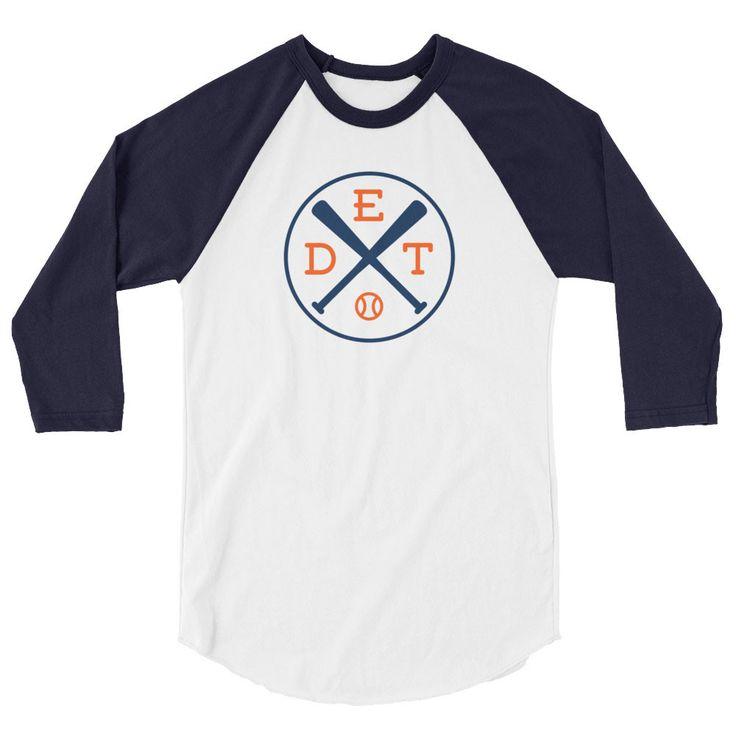 Detroit Baseball 3/4 Sleeve Raglan