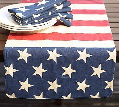 American Flag Table Runner #potterybarn