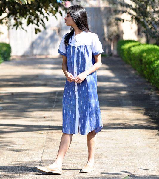 Buttoned shift dress