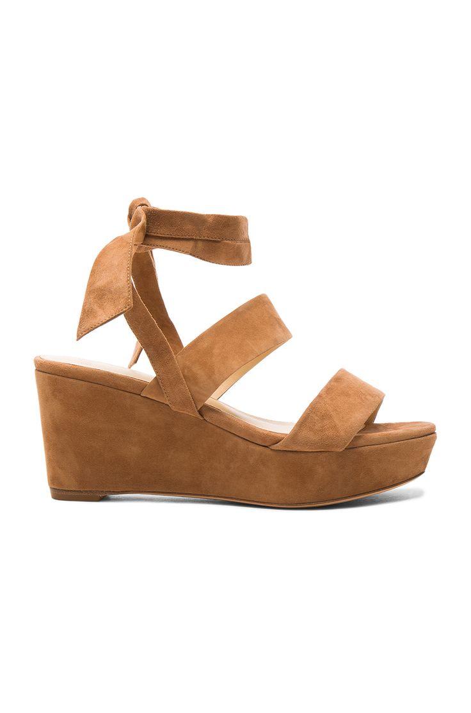 ALEXANDRE BIRMAN Suede Luma Wedges. #alexandrebirman #shoes #