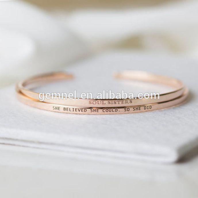 Gemnel rose gold bangle bracelet, ladies gold cuff bracelet