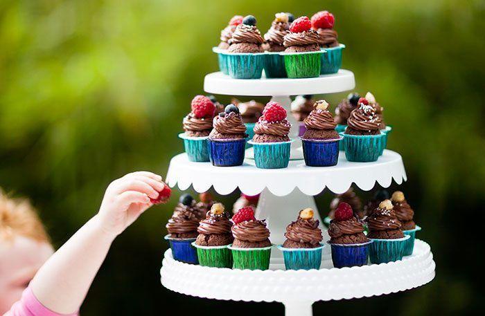 Små nutellacupcakes