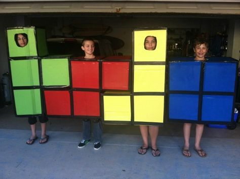 4 Tetris   Kostüm-Idee für Gruppen zu Karneval, Halloween & Fasching