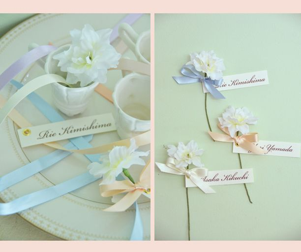 flower name card by AYANO TACHIHARA Wedding Design
