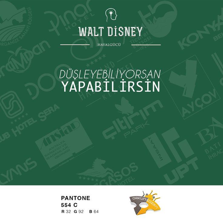 """""""Düşünebiliyorsan Yapabilirsin"""" Walt Disney  #düşünceler #yapabilirsin #walt #disney #grafik #tasarım #özlüsözler #güzelsözler"""