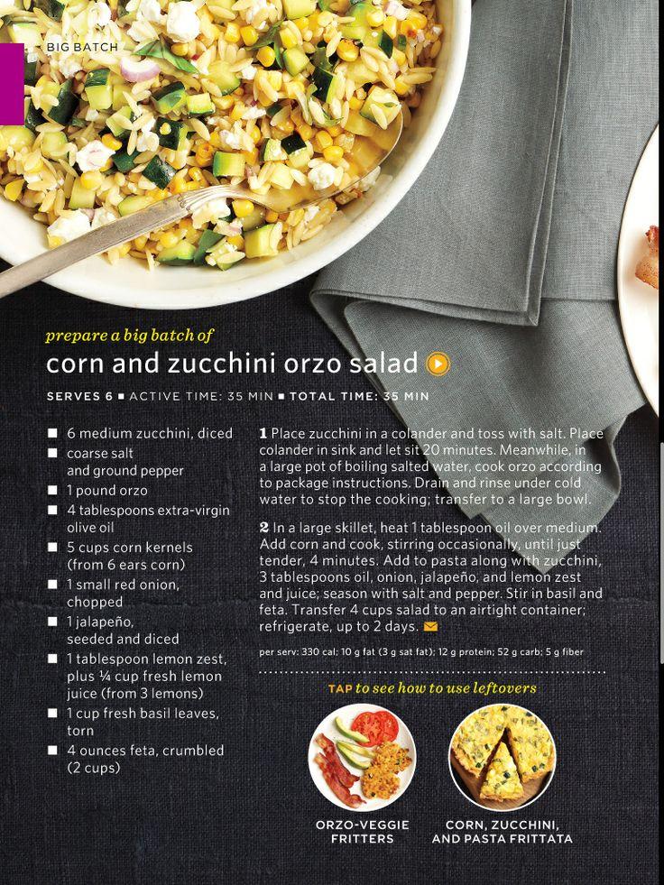 and zucchini orzo salad | Healthy Eats | Pinterest | Orzo Salad, Orzo ...