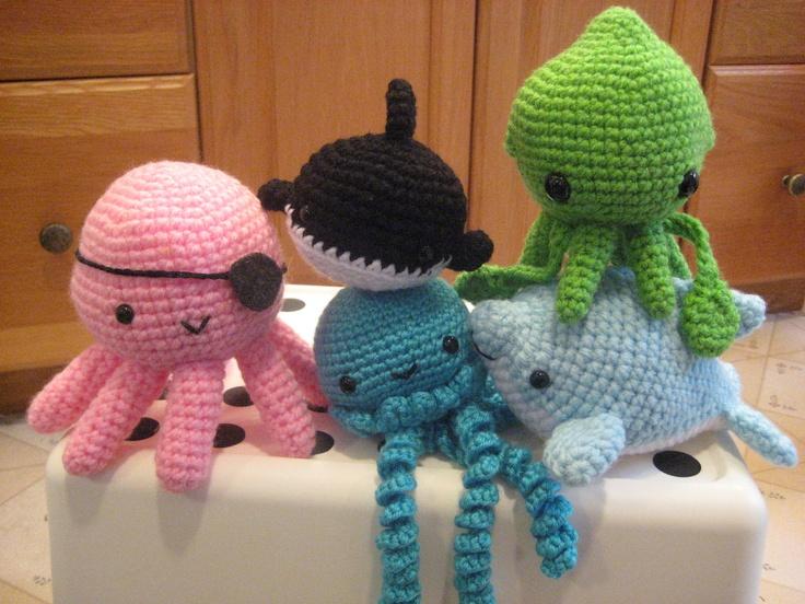 Meer dan 1000 idee?n over Gehaakte Octopus op Pinterest ...