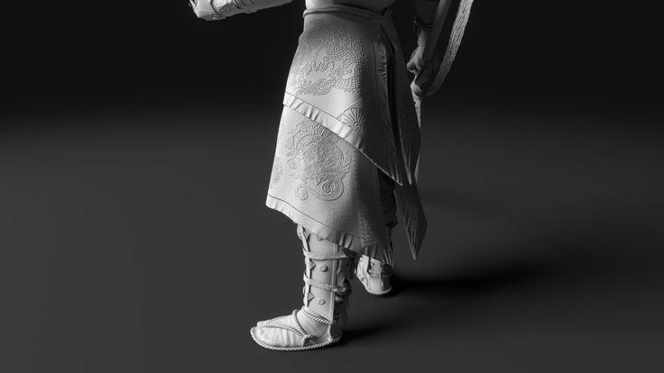 ArtStation - Minamoto no Yoshitsune - Clay renders, Thuan Nguyen Minh Duong