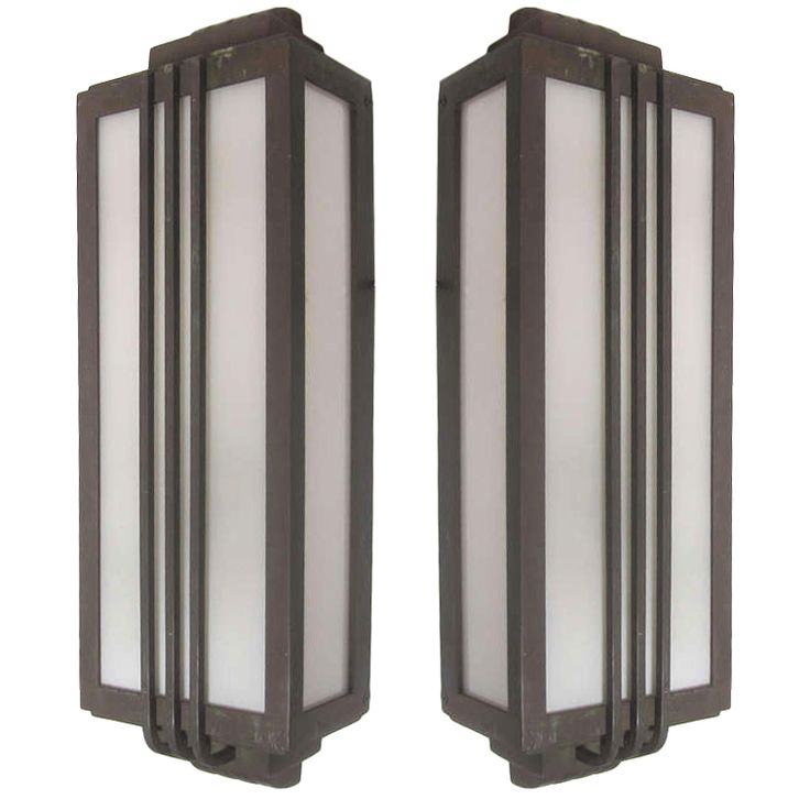 53 best art deco images on pinterest art deco art art for Art deco exterior light fixtures