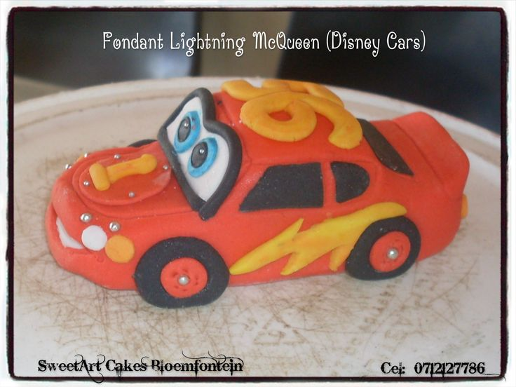 FONDANT LIGHTNING MCQUEEN   For more info  & orders, email SweetArtBfn@gmail.com or call 0712127786. Connect with us on Facebook:  https://www.facebook.com/SweetArtCakesBfn