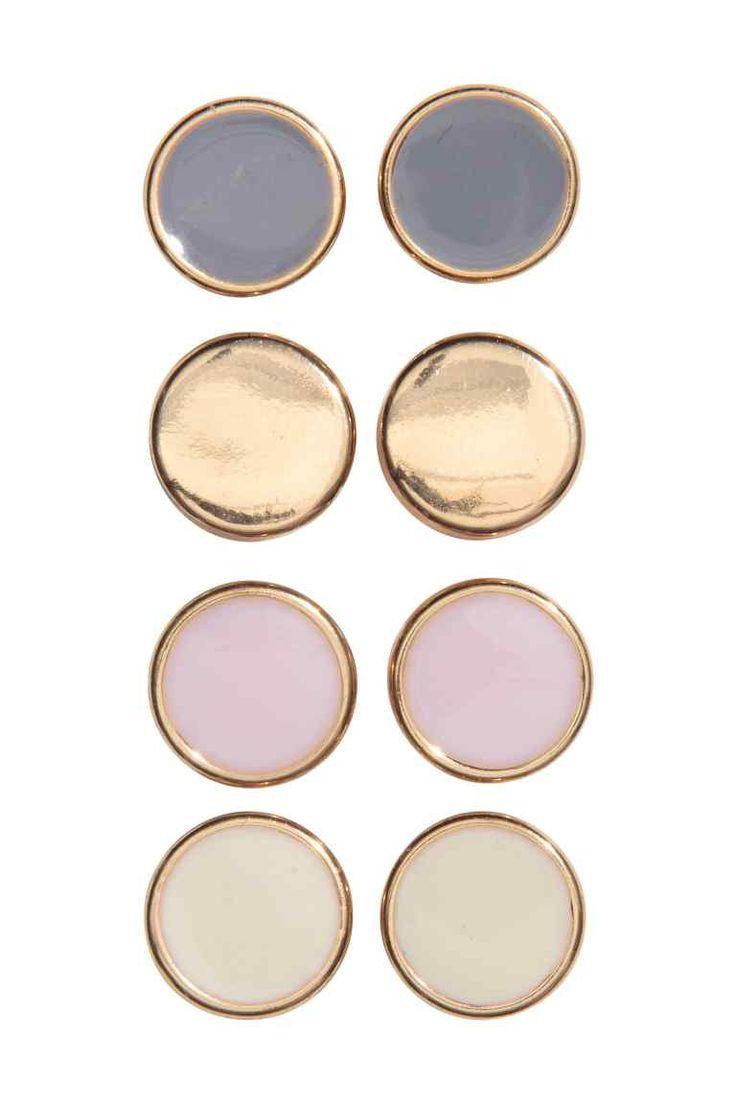 4 pares de brincos - Rosa claro/Dourado - SENHORA   H&M PT 1