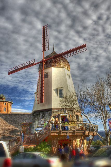This windmill is not located in Holland/The Netherlands. It is in Solvang, CA.