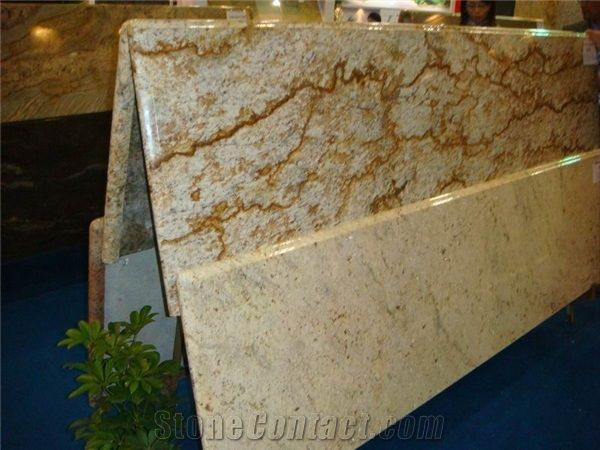 Prefab Granite Countertop from China Supplier - StoneContact.Com  Love the movement.