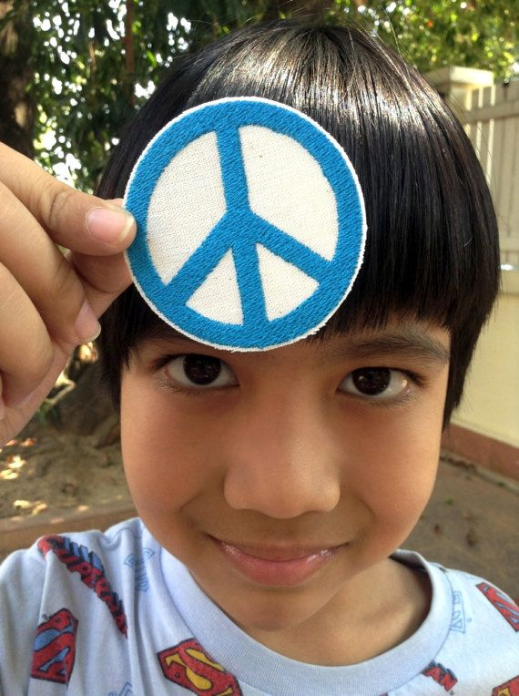 A Peace Symbol  6 cm  A patch for peace by SundayNeek on Etsy