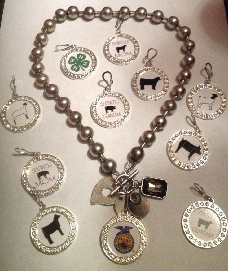 FFA charms | FFA/4H/Animal Multi Charm 18 Toggle Necklace by sassygirlsx3