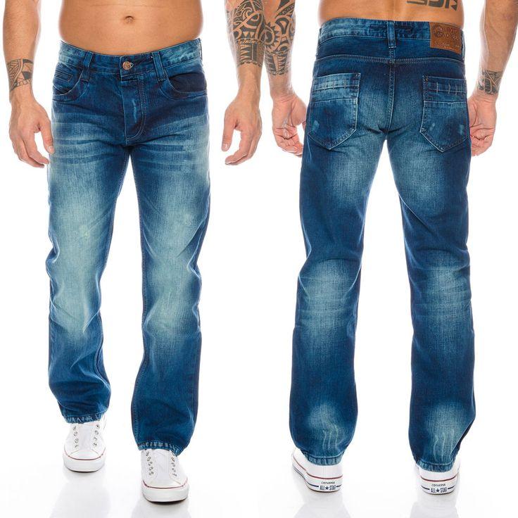 a633cc8c71 Details zu Rock-Creek Herren Jeans Cargo Style Stone Washed Clubwear Hose  W30-W42 RC-2010