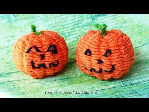 Bricolage Halloween Citrouille en laine en tissage Loop de Loom - YouTube. yarn Pumpkin on a loom