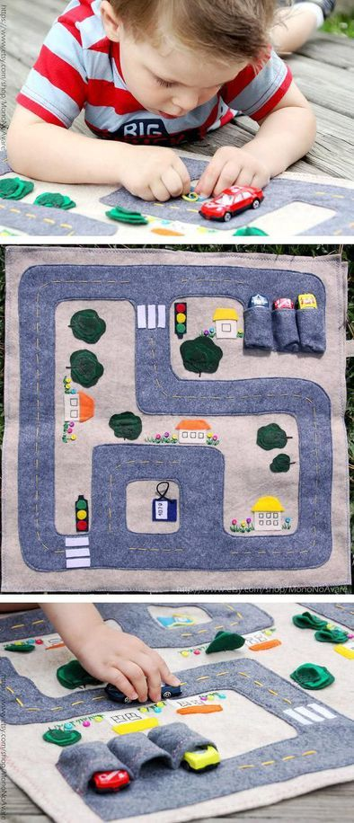 MonoNoAvare's foldable felt car mat delivers hours of.... Nice gifts for the hotwheels lover.
