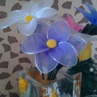 Цветок из капрона своими руками