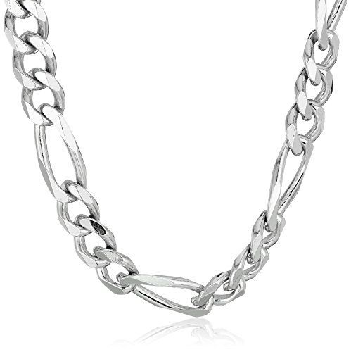 Save on Mens Sterling Silver Italian 6.80mm Solid Figaro Link-Chain Necklace 18 and more  Save on Mens Sterling Silver Italian 6.80mm Solid Figaro Link-Chain Necklace 18 and more  Expires Jul 27 2017