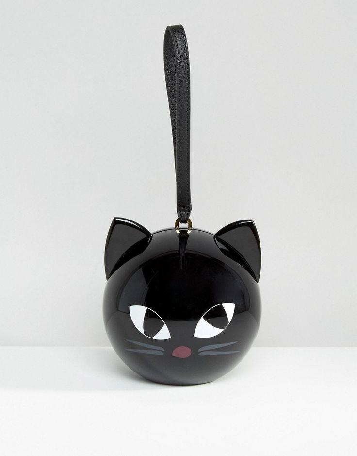 Image 1 - Lulu Guiness - Kooky - Pochette motif chat et orbe