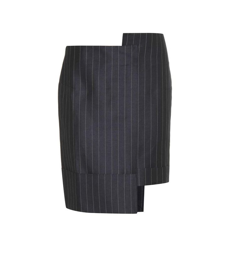 mytheresa.com - La Mini Jupe Ourlet pinstriped linen and cotton skirt - Luxury Fashion for Women / Designer clothing, shoes, bags