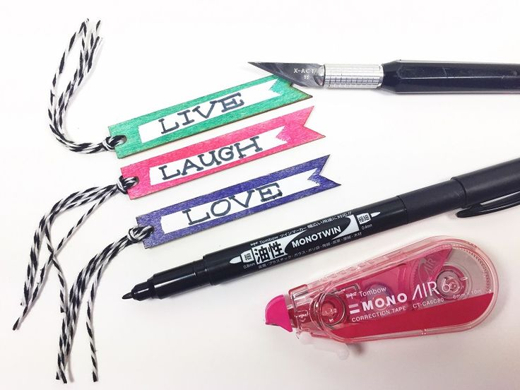 5 Unique techniques using Tombow MONO Air Correction Tape in your Mixed Media Projects including doodles, wood, glass, photo paper and gift bags.