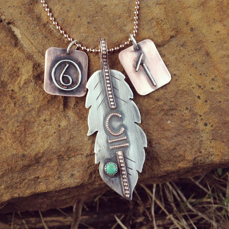 439 best western images on pinterest western jewelry cowboy boots feather necklace with 2 brand charms silosilver sterling custom ranchbrandjewelry handmade aloadofball Image collections