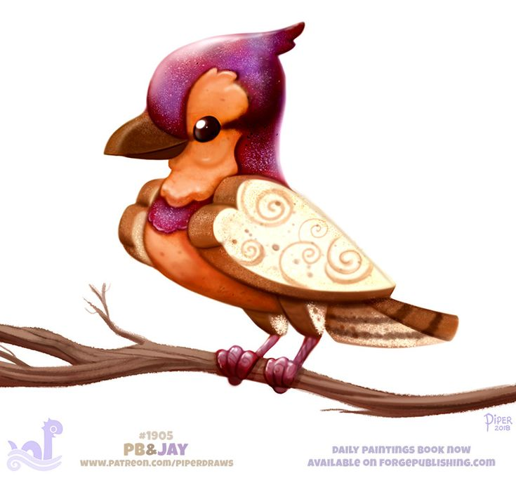 Daily Paint 1905# PB&Jay, Piper Thibodeau