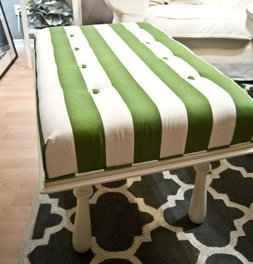 Diy decorating ideas sometimes it 39 s difficult to find an ottoman or bench in just the right - Creative diy ottoman ideas ...