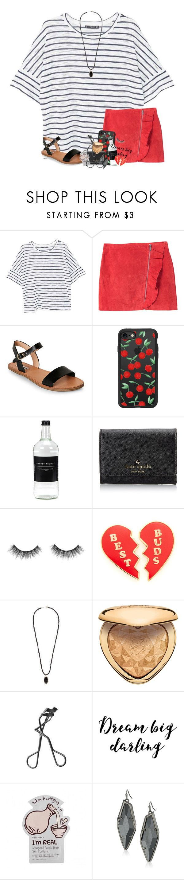 """my friend and I won as middle school reps for the Empowering Young Women Club!!!"" by karinaceleste ❤ liked on Polyvore featuring MANGO, Steve Madden, Casetify, Kate Spade, Georgia Perry, Kendra Scott, Too Faced Cosmetics, NARS Cosmetics, Charlotte Russe and Gucci"