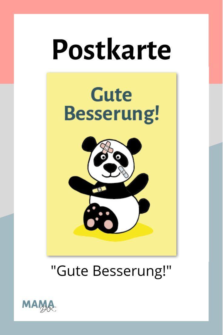 """Card Panda """"Gute Besserung"""" – # Verbesserung #gut #card #panda   – Gesundheit von Kindern"""