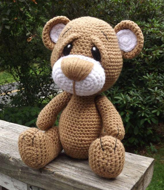 Little Brown Teddy Bear Amigurumi Crochet by LisaJestesDesigns