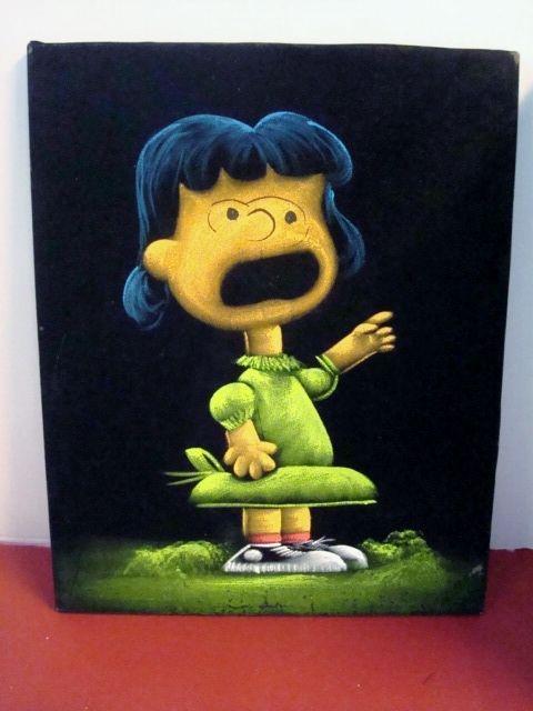 Snoopy Painting Black Velvet