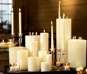 We love candles! They are great for decoration, mood and smell great when lit.