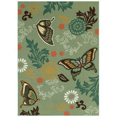 "Young Attitudes Butterfly Fantasy Ocean Glacier Kids Rug Size: 3'3"" x 4'8"" by kathy ireland Rugs by Shaw Living. $69.00"