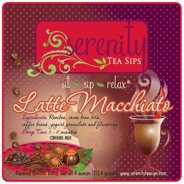 Caramel Latte Coffee Bean Flavor: Delicious Rooibos Blend With Coffee Beans, Cocoa Bits And