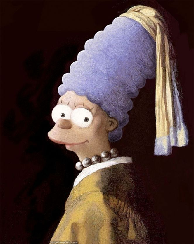 Marge Simpson remastered by David Barton