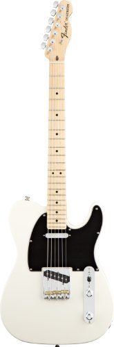 """Fender American Special Telecaster® Electric Guitar, Olympic White, Maple Fretboard by Fender. $849.99. Fender introduces the American Special Series Telecaster guitar, which puts everything you want in an affordable U.S.-made instrument within your reach. Features include an alder body, maple neck with 9.5""""-radius fingerboard and jumbo frets, Texas Special pickups, vintage-style string-through-body Telecaster bridge with three brass saddles, and gloss urethane finish. The Amer..."""