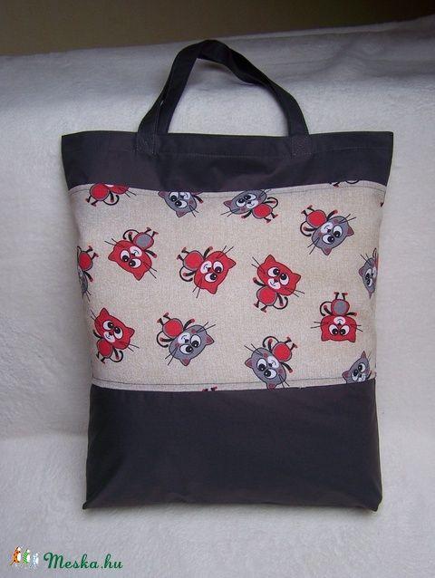 Bevásárló szatyor  (  Cicás ) (ennavel) - Meska.hu