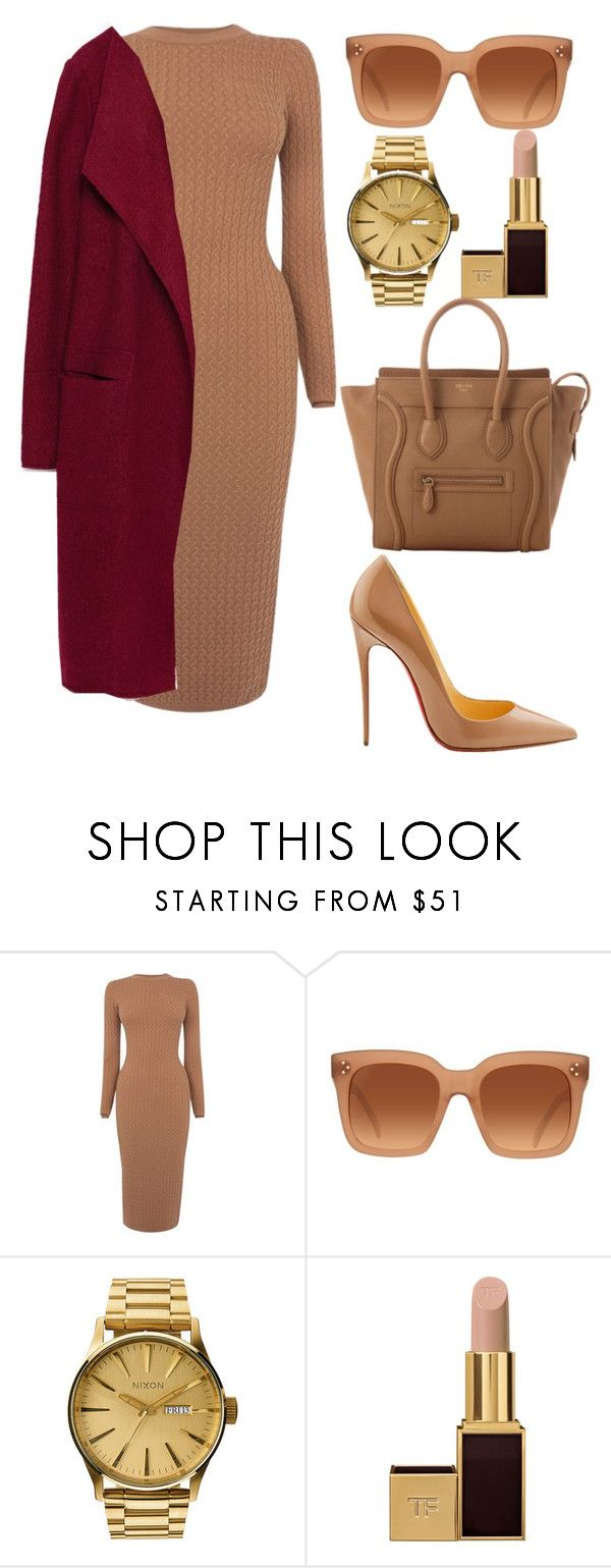 """""""Untitled #322"""" by amoney-1 ❤ liked on Polyvore featuring Karen Millen, Christian Louboutin, CÉLINE, Nixon, Tom Ford and Zara"""