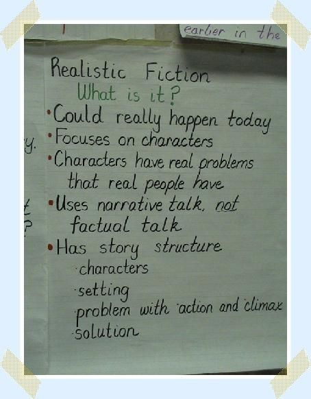 realistic fiction genre | Reading Workshop and Stategies | Pinterest