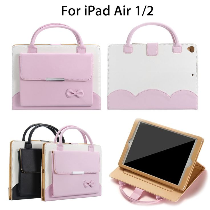 Portable Leather Handbag Magnetic Smart Stand Holder Case Cover For iPad Air 1/2…