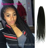 18inch&24inch BOX Braids Hair 3s Crochet Braids Hair Havana Mambo BOX Braid…