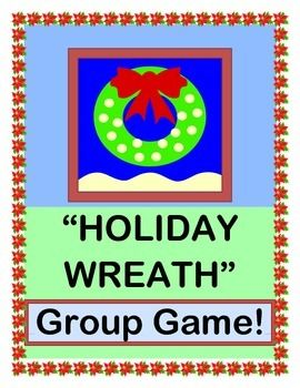 """Play an ACTIVE GROUP GAME, and make a HOLLY BERRY CRAFT!  Turn your kids into a """"LIVING HOLIDAY WREATH"""", and go 'round and round' in a circle game with great 'MOVES'!  A great INDOOR GAME for a cold day.  SONG DIRECTIONS included-- no music skills needed!  Lyrics appropriate for all group settings.  (6 pages)  From Joyful Noises Express TpT!  $"""