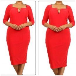 Red Body Con Dress Plus Sizes $55 at www.primeboutique.co or Prime Boutique Granada Hills,CA