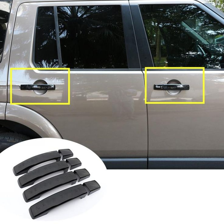 [Visit to Buy] For Land Rover Freelander 2  Black Car Door Handle Cover Trim 8pcs  2011-2015 #Advertisement