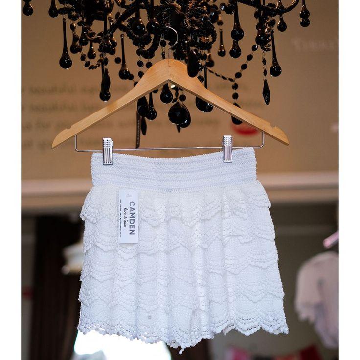 Crochet Shorts | White